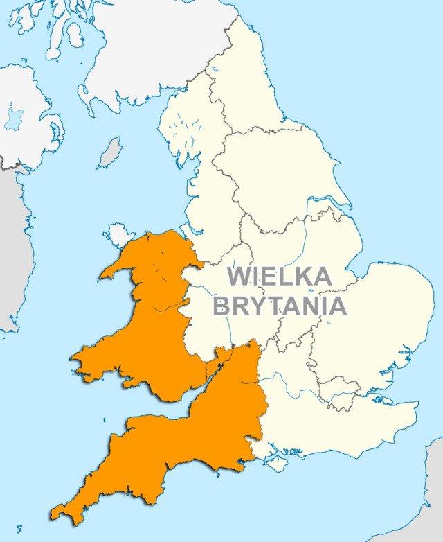 В області британських островів менш