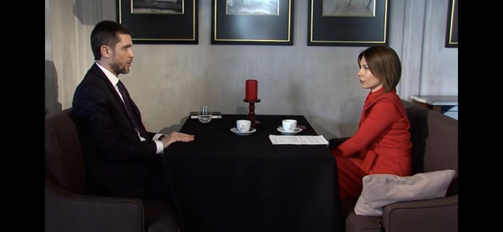 """Скріншот зі знищеного інтерв""""ю з Олексієм Бойком"""