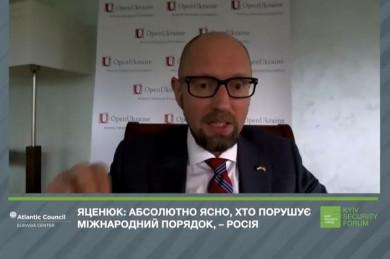 Арсеній Яценюк: Путін хоче замінити Велику Сімку на Велику П'ятірку, аби мати можливість ветувати будь-які рішення (ВІДЕО)