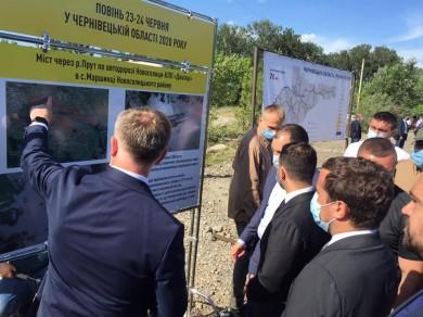 Зеленський пообіцяв добудувати міст у Маршинцях, на який досі не обрали підрядника