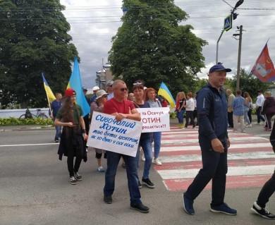 Протест триває другий тиждень: Представники Новодністровської ОТГ приєналися до пікетувальників в Атаках (ФОТО)