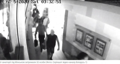 Білоруське телебачення показало відео прибуття в країну бойовиків з Росії та їх затримання під Мінськом (ВІДЕО)