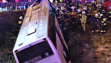Польська поліція повідомила деталі ДТП з автобусом Вроцлав - Чернівці, який минулої ночі потрапив в автокатастрофу