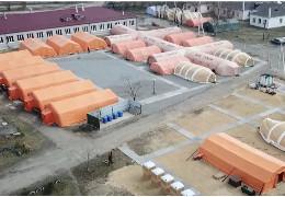 Лікарні забиті: за 120 км. від Хмельницького розбили польовий госпіталь для хворих на COVID-19