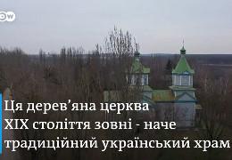 На Київщині є стара церква, де замість вівтаря орбітальний відсік космічного корабля, а на стінах замість ікон - портрети космонавтів