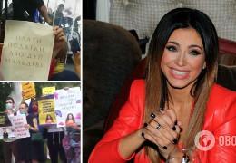 Плати податки, або дуй на Мальдіви! - у Москві учасники протесту зірвали концерт Ані Лорак