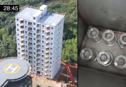Це треба бачити! У Китаї десятиповерховий житловий будинок побудували всього за добу
