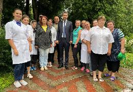 """Голова облради Бойко відвідав санаторій """"Брусниця"""", який з 1 липня відновив свою роботу"""