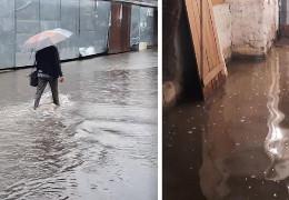У Хмельницькому сильна злива затопила головний ринок, вода стоїть у багатоповерхівках
