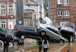 Катастрофічна повінь у бельгійському місті Верв'є — стоп-кадр