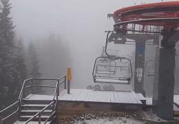 На Буковелі пішов сніг. На горі Піп Іван теж